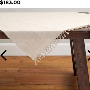 Pottery Barn square table throw